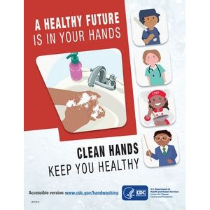CDC Approved Stock Posters | Hand washing series (11x17)